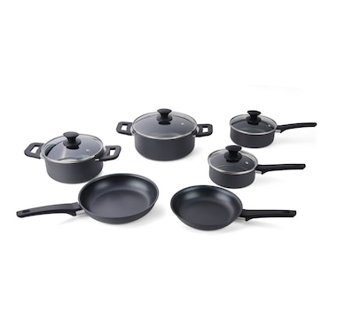 Cuisipro Soft-Touch Aluminum 10-Piece Cookware Set