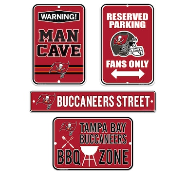 Tampa Bay Buccaneers Fan Sign Set (4-Pack)