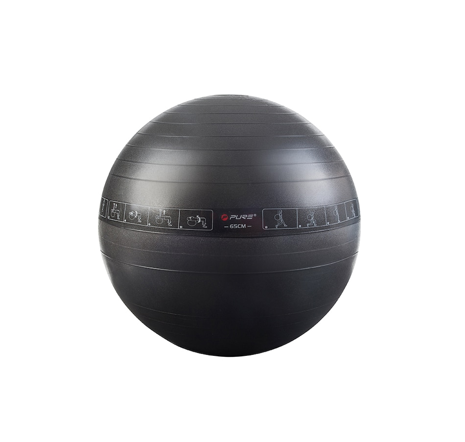 Image 647920.jpg , Product 647-920 / Price $27.00 , Pure2Improve 75 cm Gym Ball with 10 Illustrated Exercises from Pure2Improve on TSC.ca's Health & Fitness department