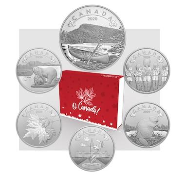 Complete 2020 $10 Fine Silver Six Coin Set O Canada!