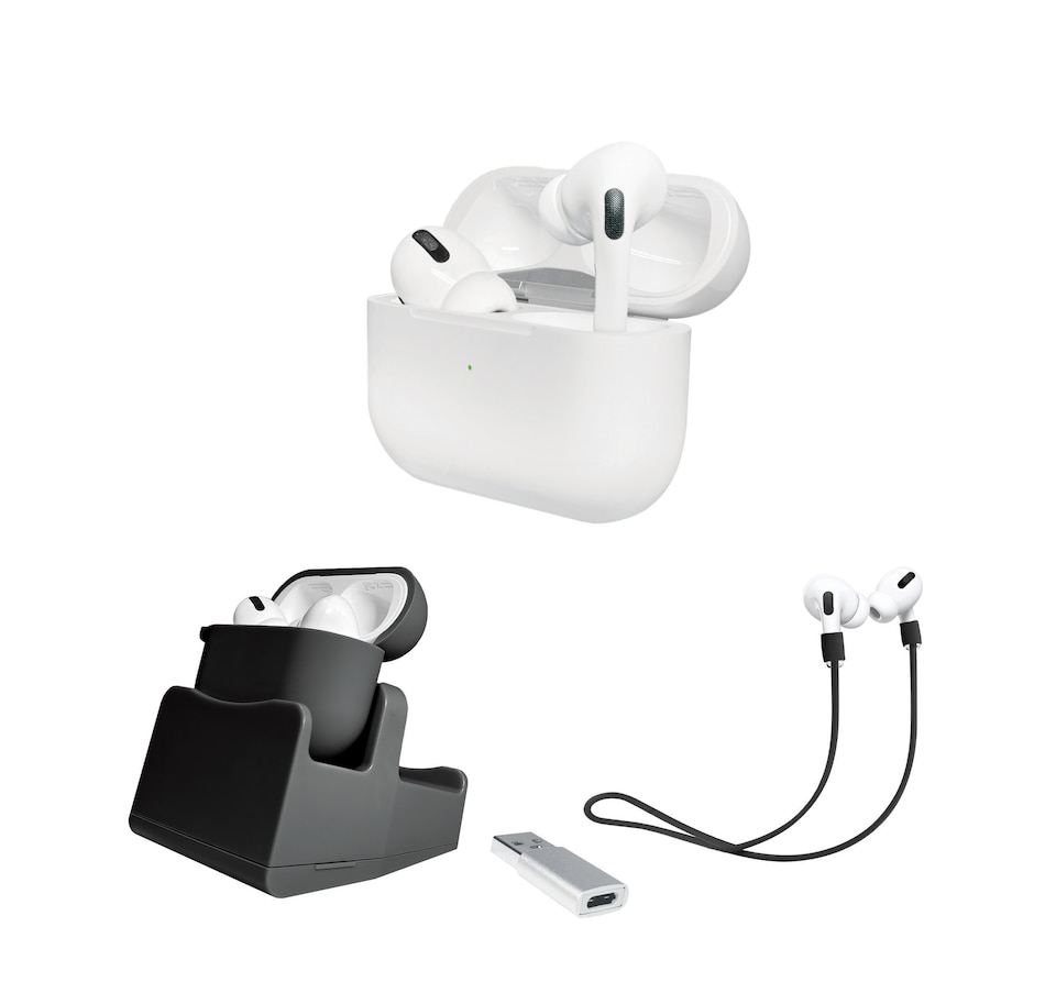 Image 648748_BLK.jpg , Product 648-748 / Price $394.99 , Apple Airpods Pro In-Ear Noise-Cancelling Truly Wireless Headphones Bundle from Apple on TSC.ca's Holiday Gift Shop department