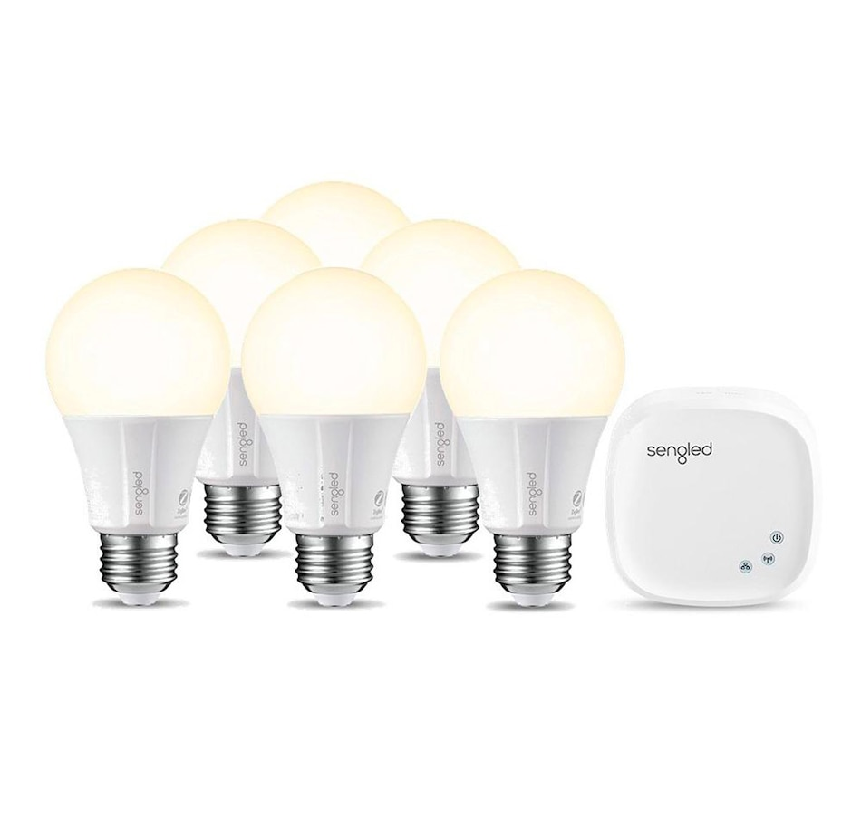 Image 649665.jpg , Product 649-665 / Price $99.99 , Sengled Smart Hub with 6 Element Classic Smart LED A19 Light Bulbs from sengled on TSC.ca's Electronics department
