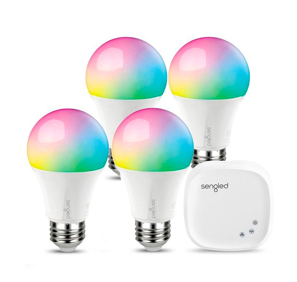 Image 649667.jpg , Product 649-667 / Price $159.99 , Sengled Smart Hub with 4 Smart LED Multicolor A19 Light Bulbs from sengled on TSC.ca's Electronics department
