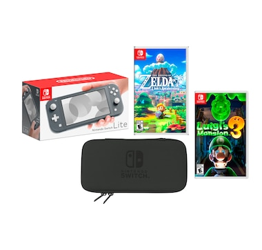 Nintendo Switch Lite Bundle with Legend of Zelda, Luigi's Mansion 3 and Case