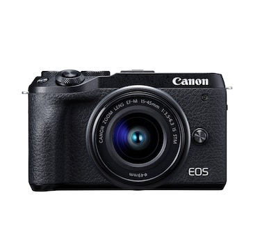Canon EOS M6 Mark II Mirrorless Camera with EFM 15–45 mm Lens