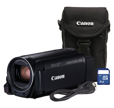 Canon HF R800 Flash Memory Camcorder, Bundled Case & 8GB SD Card, HD CMOS, 3.28M pixels