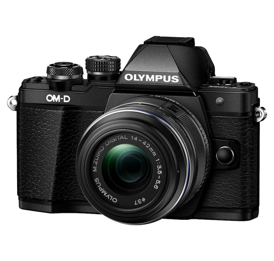 Image 650841.jpg , Product 650-841 / Price $799.99 , Olympus OM-D E-M10 Mark II Black with 14-42 IIR Black Lens from Olympus on TSC.ca's Electronics department