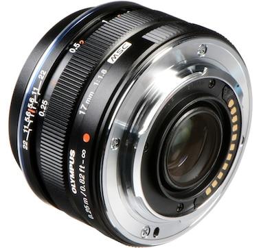 Olympus M. Zuiko 17mm f1.8 Lens, Black