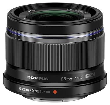 Olympus M. Zuiko 25mm f1.8 Lens, Black