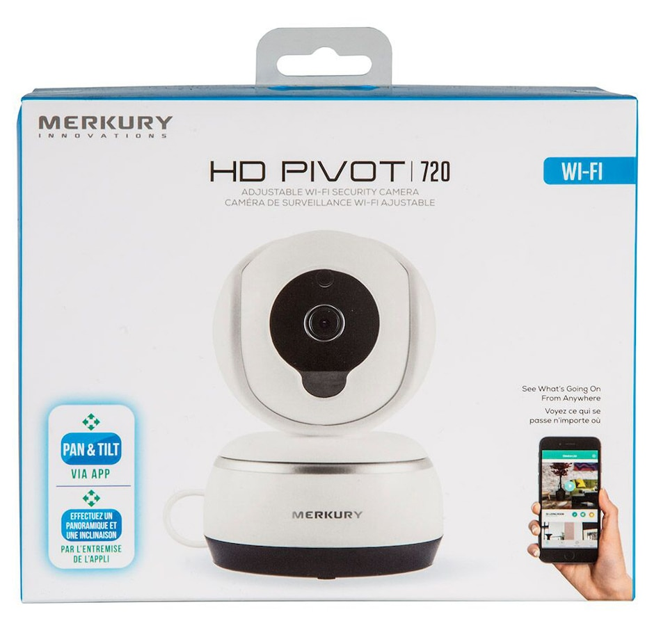 Merkury HD Pivot 720p Smart Wi-Fi Security Camera with Pan Tilt function