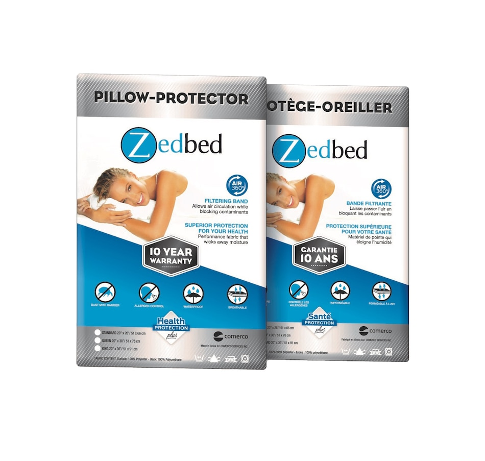 Image 651761.jpg , Product 651-761 / Price $34.00 - $42.00 , Zedbed Pillow Protector from Zedbed on TSC.ca's Home & Garden department