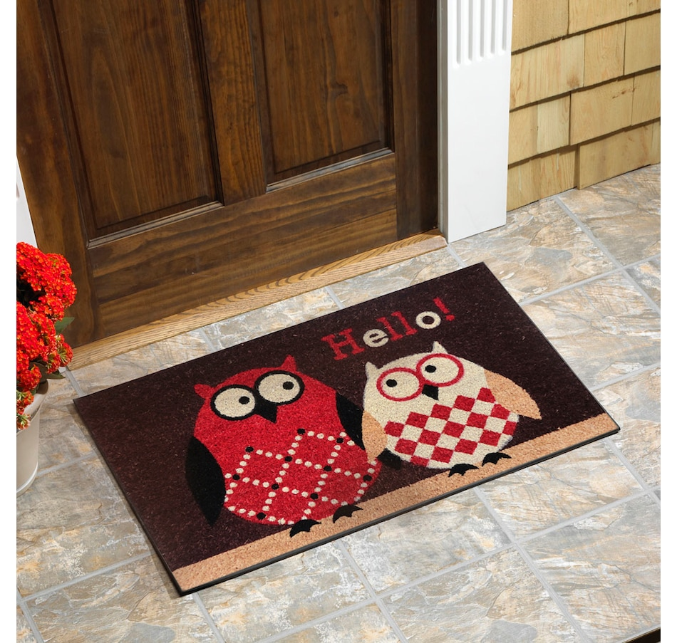 Image 652211.jpg , Product 652-211 / Price $20.95 , Owl Vinyl Backed Coir Door Mat from Viana Inc on TSC.ca's Home & Garden department