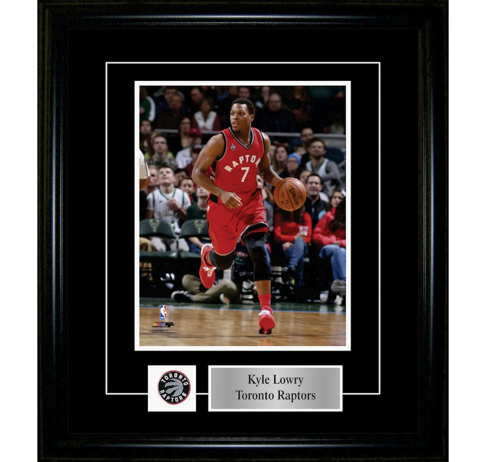 Image 652895.jpg , Product 652-895 / Price $59.99 , Frameworth Kyle Lowry 8x10 Pin And Plate Raptors Red Action from Frameworth on TSC.ca's Sports department