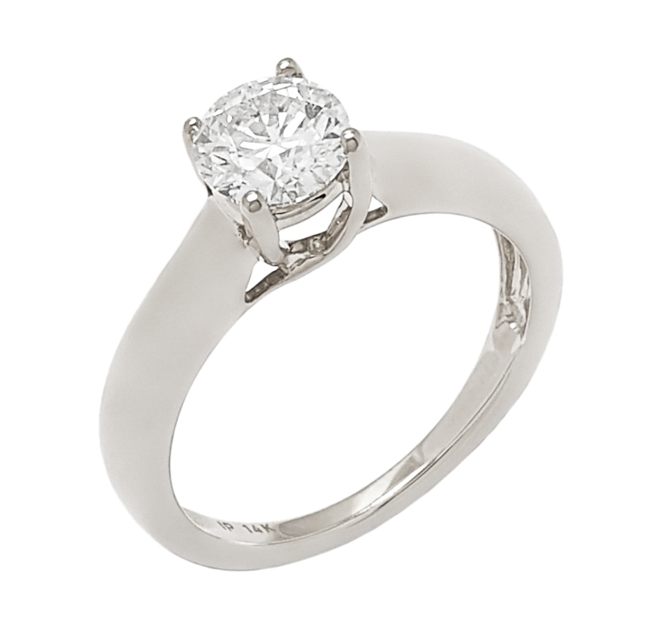 Image 656272_WGL.jpg , Product 656-272 / Price $6,699.33 , Bridal Collection 14K Gold 1.00ctw Diamond Solitaire Ring from Diamond Show on TSC.ca's Jewellery department