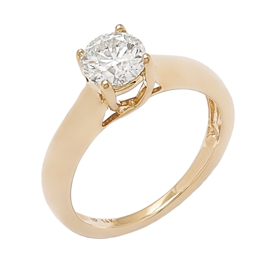 Image 656272_YGL.jpg , Product 656-272 / Price $6,699.33 , Bridal Collection 14K Gold 1.00ctw Diamond Solitaire Ring from Diamond Show on TSC.ca's Jewellery department