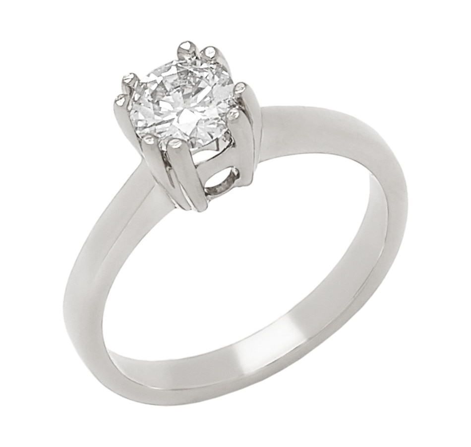 Image 656280_WGL.jpg , Product 656-280 / Price $2,999.33 , Bridal Collection 14K Gold 0.70ctw Diamond Solitaire Ring from Diamond Bridal on TSC.ca's Jewellery department