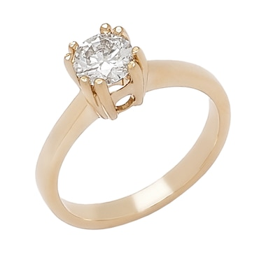 Bridal Collection 14K Gold 0.70ctw Diamond Solitaire Ring