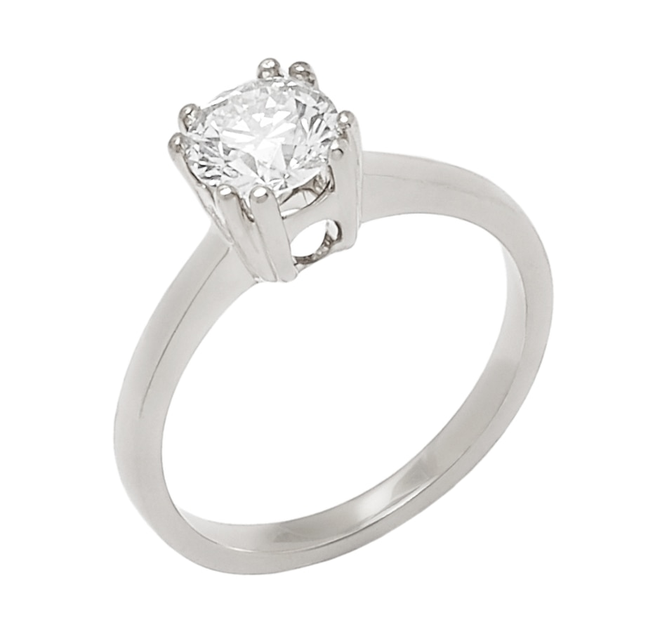 Image 656281_WGL.jpg , Product 656-281 / Price $6,699.33 , Bridal Collection 14K Gold 1.00ctw Diamond Solitaire Ring from Diamond Bridal on TSC.ca's Jewellery department
