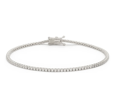 Bridal Collection 14K Gold 1.01ctw Diamond Tennis Bracelet