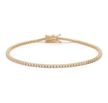 Bridal Collection 14K Gold 1.01ctw Diamond Tennis Bracelet