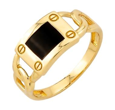 International Gold Yellow Gold Onyx Ring