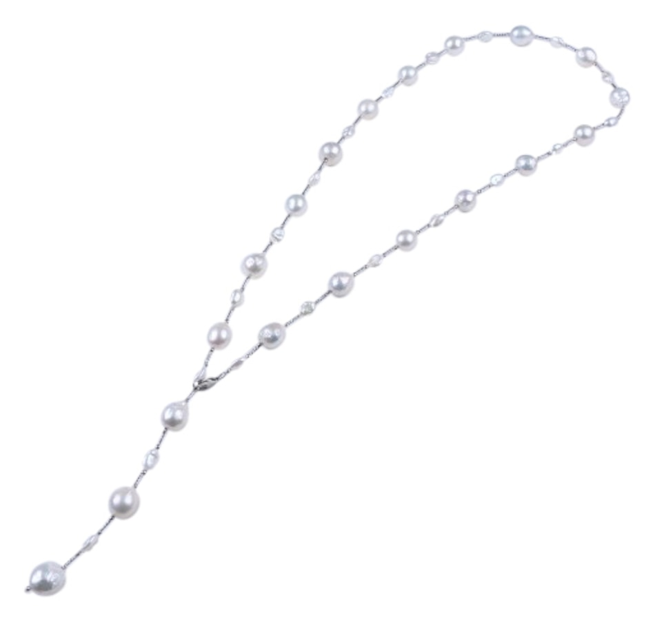 """Image 657048.jpg , Product 657-048 / Price $408.99 , SUGOI Sterling Silver 36"""" White Baroque Pearl and Keshi Pearl Necklace from Sugoi Pearls on TSC.ca's Jewellery department"""