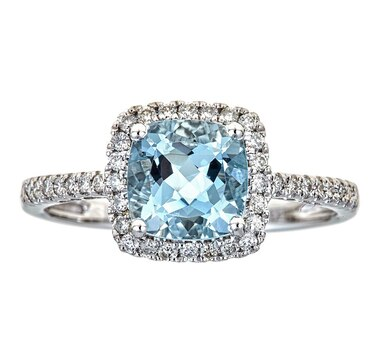 Cirari 14K White Gold Aquamarine Ring