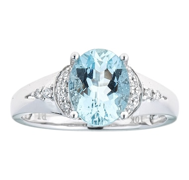 Cirari 10K White Gold Aquamarine Ring
