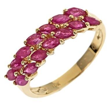 Cirari 10K Yellow Gold Ruby Ring