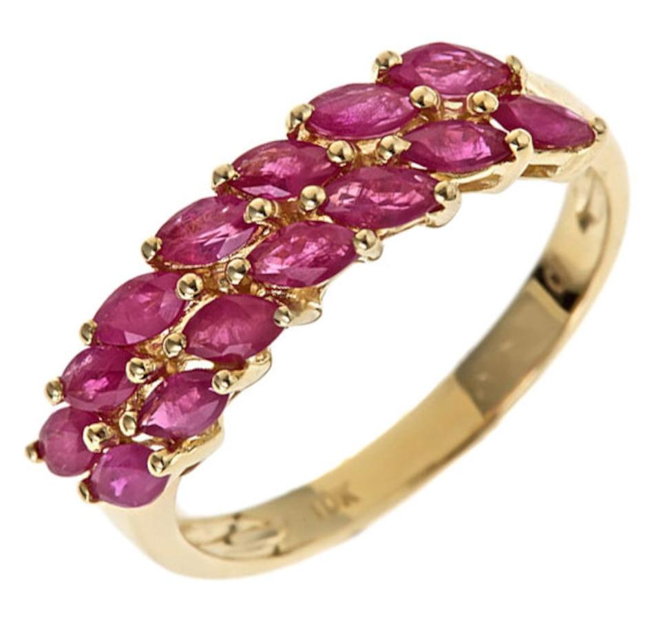 Image 657287.jpg , Product 657-287 / Price $399.99 , Cirari 10K Yellow Gold Ruby Ring from Cirari on TSC.ca's Jewellery department