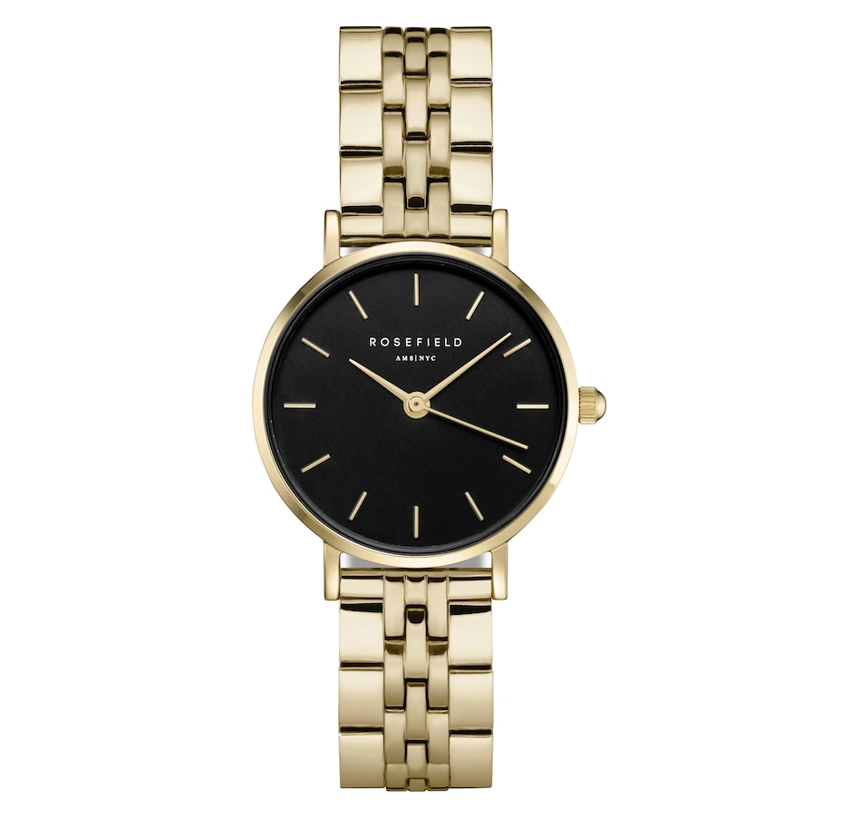 Image 657835.jpg , Product 657-835 / Price $169.00 , Rosefield The Small Edit Gold and Black Watch from Rosefield on TSC.ca's Jewellery department