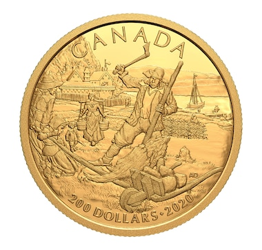2020 $200 Pure Gold Coin Early Canadian History: New France