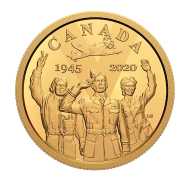 2020 $100 14-Karat Gold Coin 75th Anniversary of V-E Day