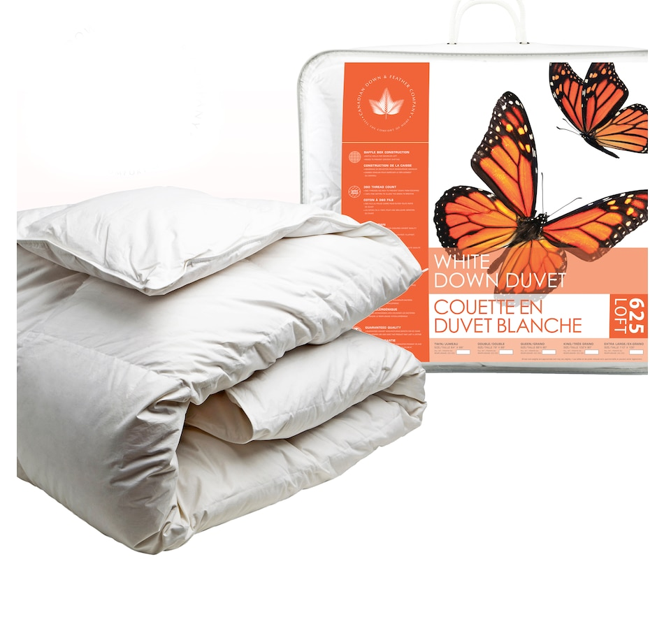 Image 658496.jpg , Product 658-496 / Price $137.50 - $254.50 , Canadian Down & Feather Company Summer Weight White Down Duvet 625 Loft from Canadian Down & Feather on TSC.ca's Home & Garden department