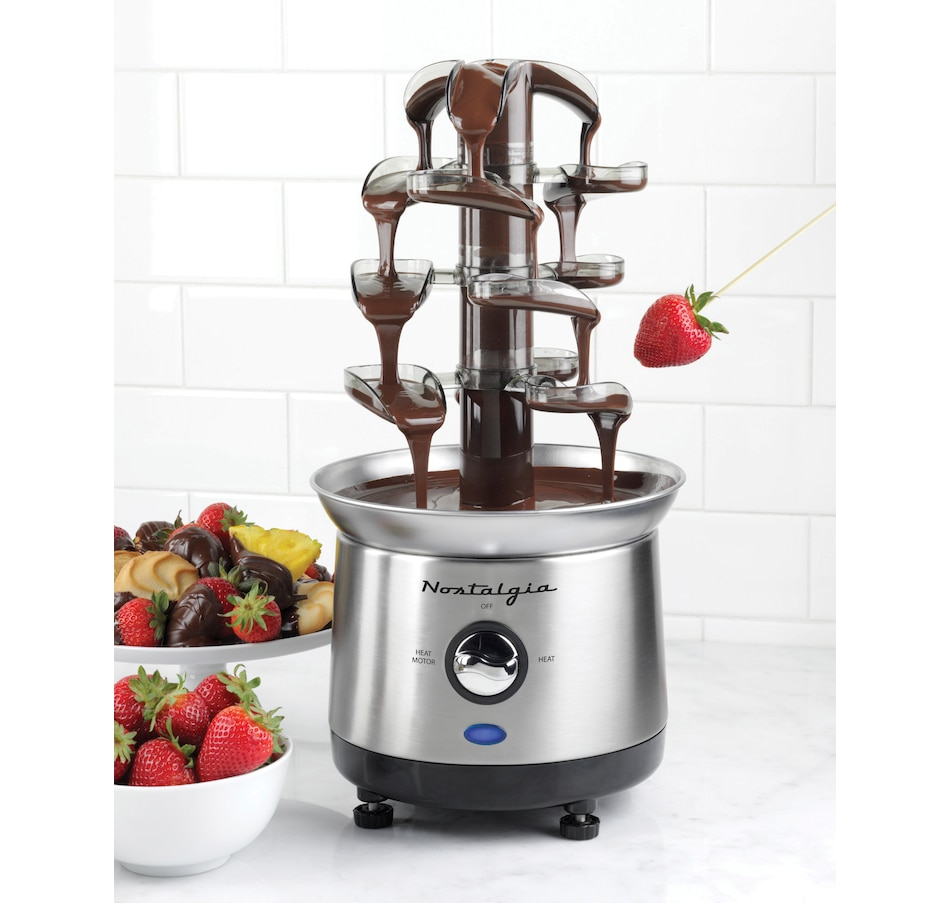 Image 658677.jpg , Product 658-677 / Price $79.99 , Nostalgia 2Lb Capacity Stainless Steel Cascading Chocolate Fondue Fountain from Nostalgia on TSC.ca's Kitchen department