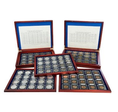 Complete Dollar Collection, 1935 to 2019, About Uncirculated to Uncirculated Condition (all dates of issue, including key date 1948)