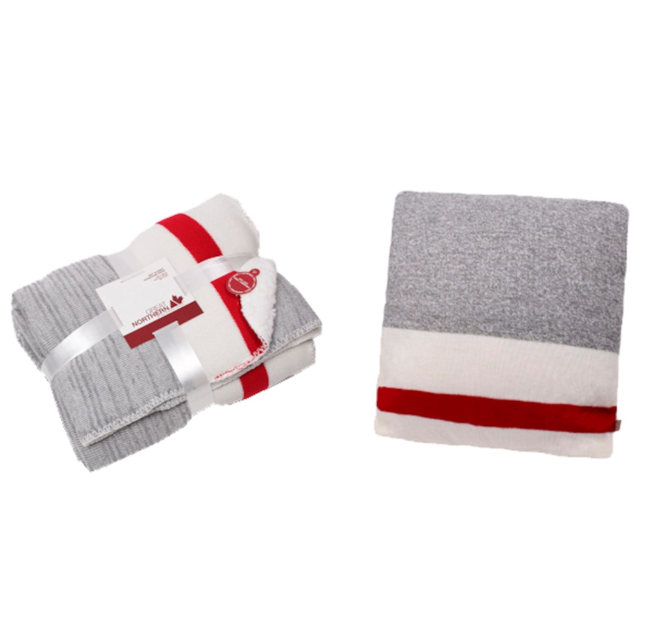Image 658789.jpg , Product 658-789 / Price $59.95 , Great Northern Sherpa Lined Knit Throw and Pillow from Great Northern on TSC.ca's Home & Garden department