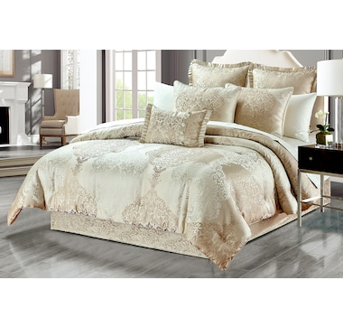 New Season Home Alexandra 6-Piece Lux Jacquard Comforter Set