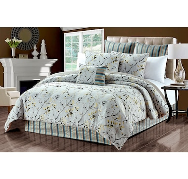 New Season Home Olympia 6-Piece Lux Jacquard Comforter Set