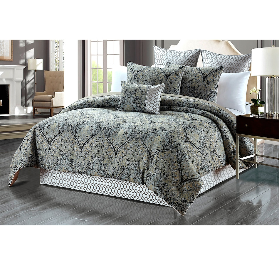 Image 658792.jpg , Product 658-792 / Price $198.95 - $219.95 , New Season Home Elaine 6-Piece Lux Jacquard Comforter Set from New Season on TSC.ca's Home & Garden department