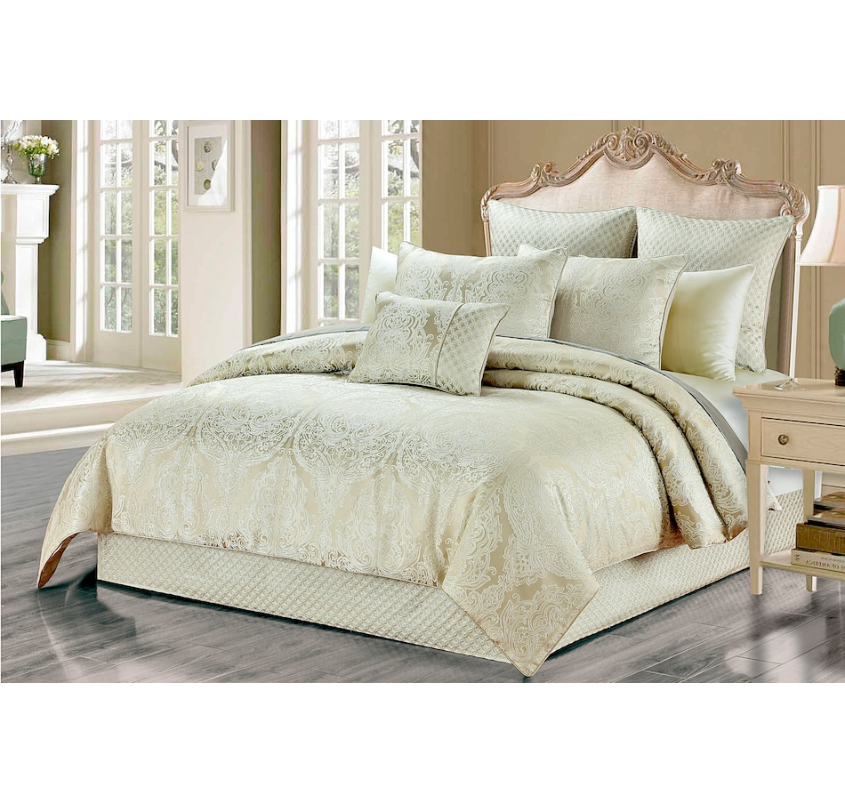 Image 658793.jpg , Product 658-793 / Price $198.95 - $219.95 , New Season Home Helia 6-Piece Lux Jacquard Comforter Set from New Season on TSC.ca's Home & Garden department