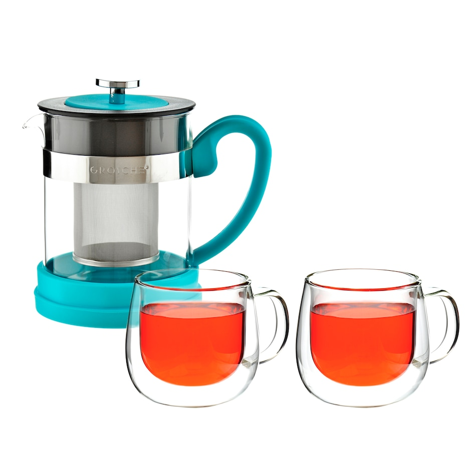 Image 658919_BLU.jpg , Product 658-919 / Price $70.00 , Grosche Valencia Teapot with Fresno Glasses Bundle from Grosche on TSC.ca's Kitchen department
