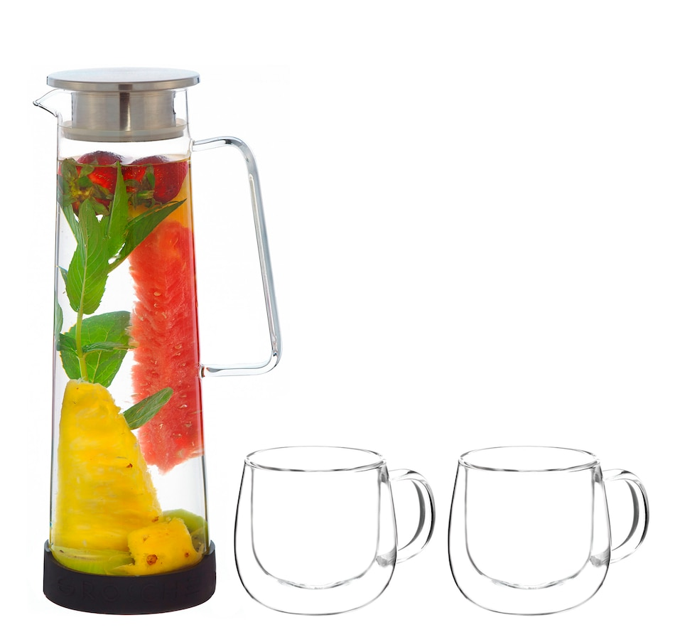 Image 658923.jpg , Product 658-923 / Price $59.99 , Grosche Bali Fruit Infuser with Fresno Glasses Bundle from Grosche on TSC.ca's Kitchen department