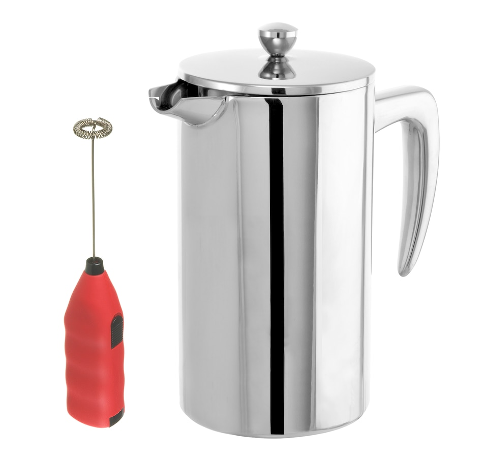 Image 658926_RED.jpg , Product 658-926 / Price $85.00 , Grosche Dublin French Press and Frother Bundle from Grosche on TSC.ca's Kitchen department