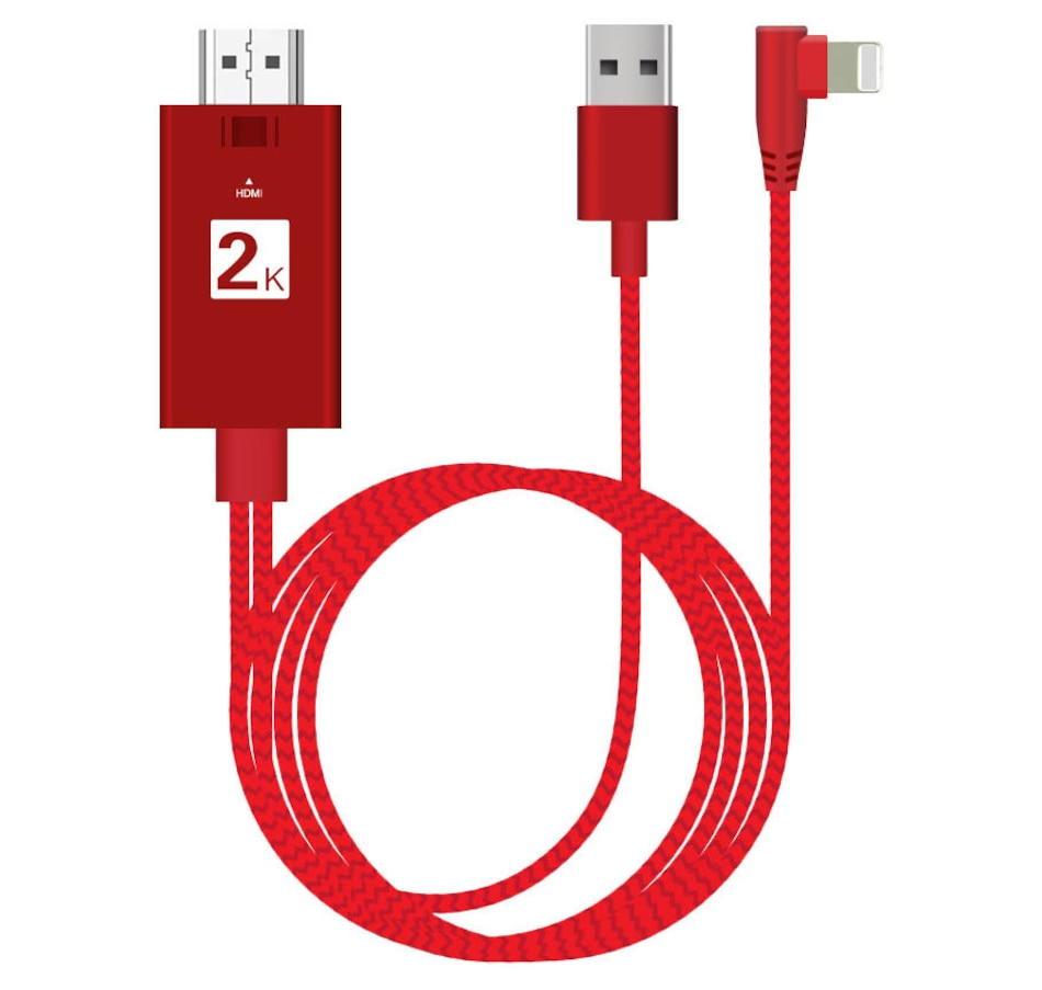 Image 659187_RED.jpg , Product 659-187 / Price $49.99 , Datalogixx 10-Foot ViewNSync Plug-and-Play HDTV Adapter for iPhones and iPads  on TSC.ca's Electronics department