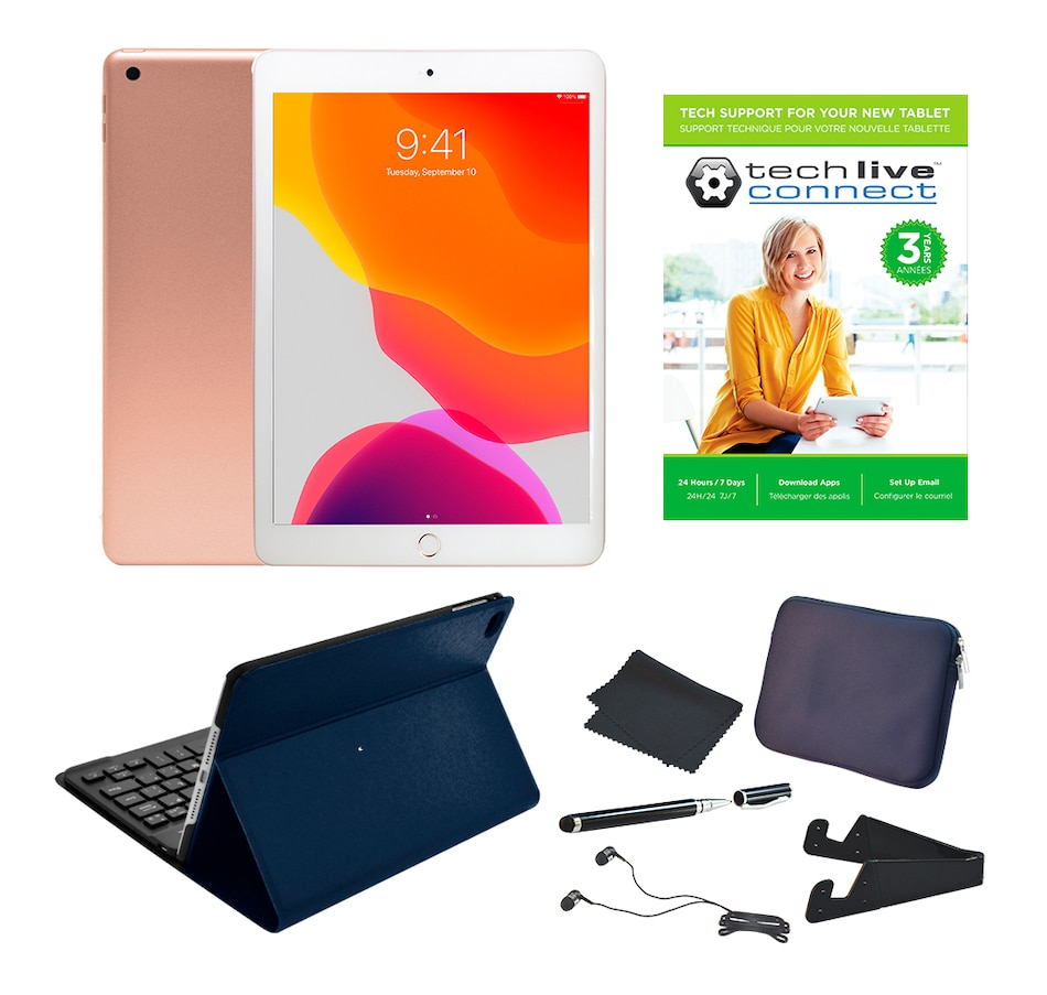 "Image 659257_GOB.jpg , Product 659-257 / Price $899.99 , Apple iPad 10.2"" Bundle with Folio Bluetooth Keyboard Case and Accessories (32GB and 128GB) and 3-Year Tech Support from Apple on TSC.ca's Electronics department"