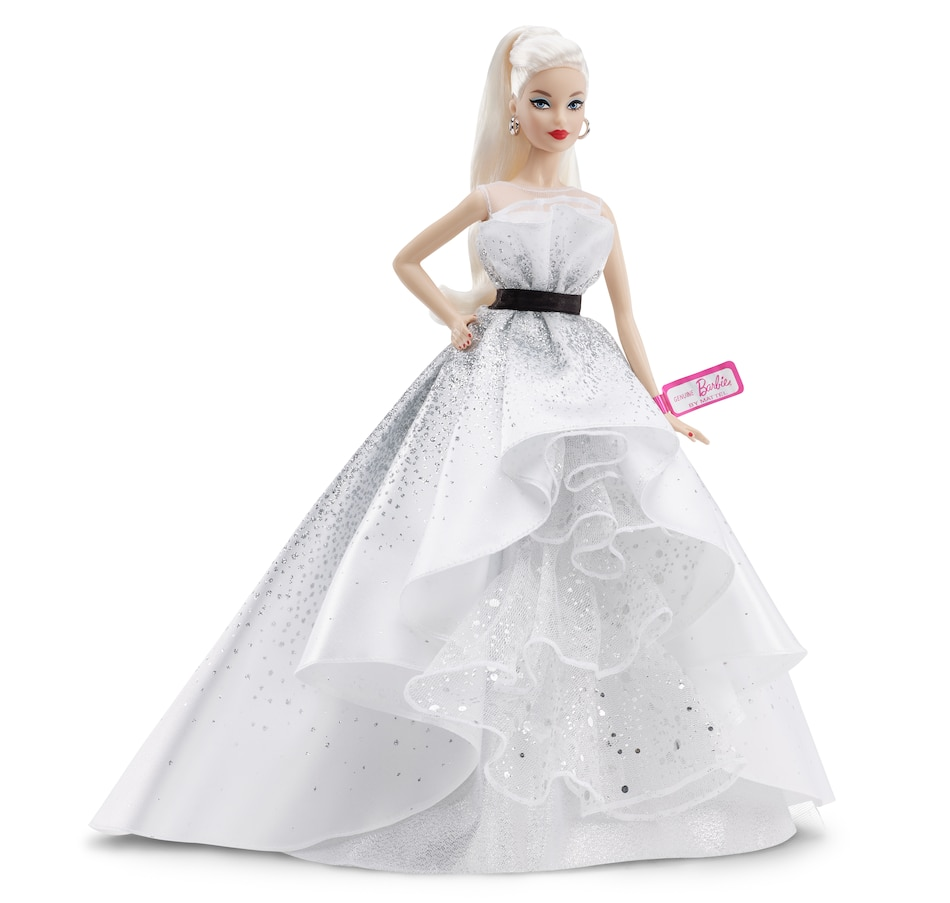 Image 659936.jpg , Product 659-936 / Price $59.99 , Barbie 60th Celebration Doll White Dress Orig from Barbie on TSC.ca's Home & Garden department