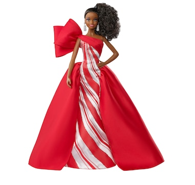 2019 Holiday Barbie Doll (Brunette Up-Do)