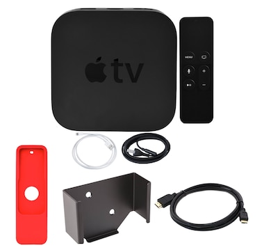 Apple TV 32GB 4K Bundle with Mounting Kit, HDMI Cable and Remote Sleeve
