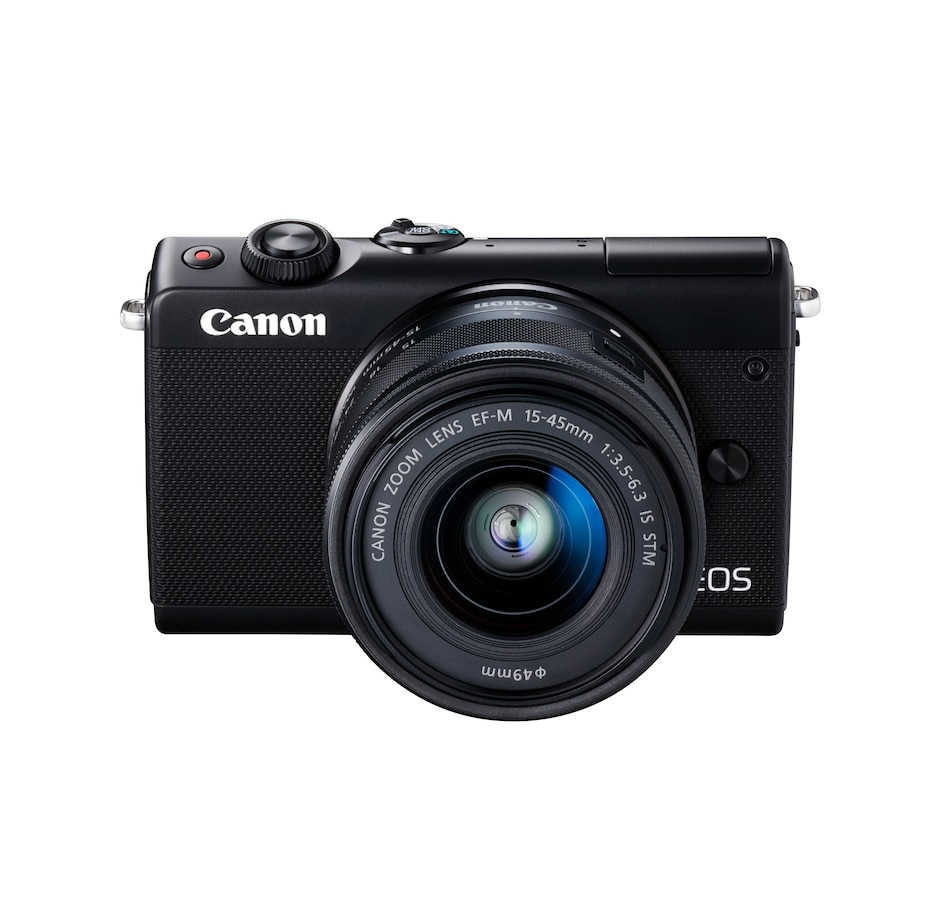 Image 660052.jpg , Product 660-052 / Price $549.99 , Canon EOS M100 Mirrorless Digital Camera with 15-45mm Lens (Black) from Canon on TSC.ca's Electronics department